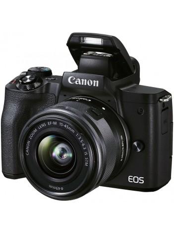Canon EOS M50 II Aparat Foto Mirrorless 24MP Kit cu Obiectiv EF-M 15-45mm F/3.5-6.3 IS STM Negru